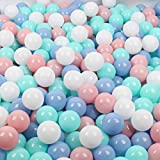 Wonder Space Soft Pit Balls, Chemical-Free Crush Proof Plastic Ocean Ball, BPA Free with No Smell, Safe for Toddler Ball Pit/