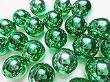 20個 大玉ビーズ 20mm メタリックグリーン アクリル アクセサリー材料 ハンドメイドパーツ 飾りつけ  ヒューイ雑貨