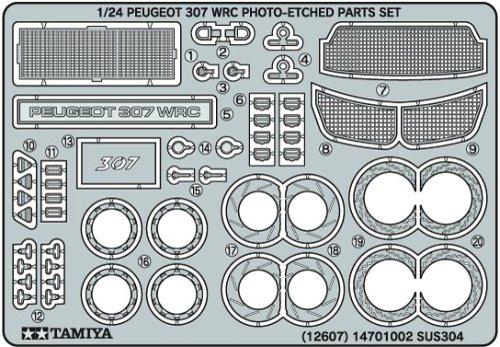 ディテールアップパーツリーズ 1/24 プジョー307WRC エッチングパーツセット