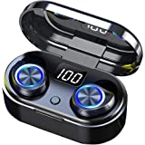 Wireless Earbuds with Touch Control 5.0 Bluetooth Earphones, Wireless Charging Waterproof HD Stereo in-Ear Headphones with Bu