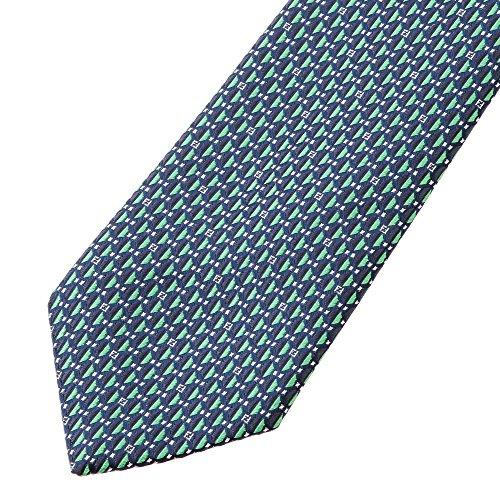 フェンディ(FENDI) ネクタイ 0VY L5T ブルー 青/グリーン [並行輸入品]