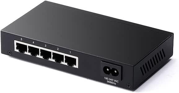サンワダイレクト スイッチングハブ LANハブ メタルケース 電源内蔵 静音 ストレート・クロスケーブル対応 10/100Mbps/1Gbps対応 5ポート 500-SWH007