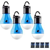GL LED Camping Lantern, [4 Pack] Portable Outdoor Tent Light Emergency Bulb Light for Camping, Hiking, Outage, Fishing, Outdo