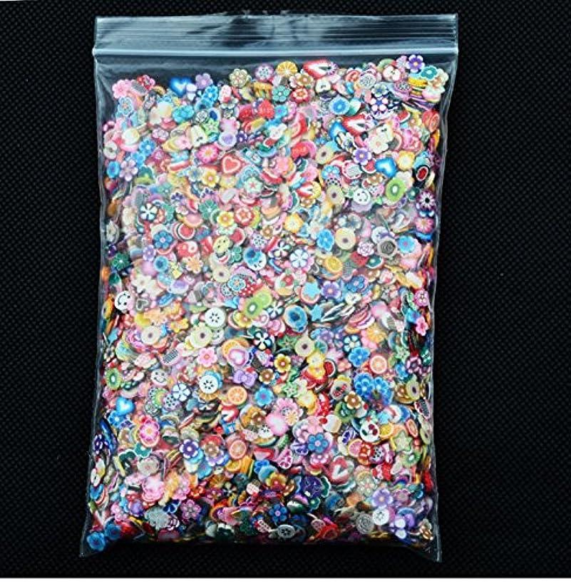 KINGZUO  スライス棒 フラワー+フルーツ 10000ピース ネイルアート用 ネイルパーツ かわいい 果物 ネイル 樹脂粘土 カット デコ用 ネイルフルーツ棒