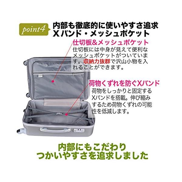 (トラベルデパート) 超軽量スーツケース TS...の紹介画像5