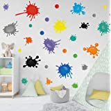 Paint Classroom Wall Decal Girls Bedroom Decoration Watercolor Paint