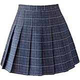 Dreamstar US Size Women Girls Plaid Pleated Skater Tennis School Skirt High Waist Mini Skirt