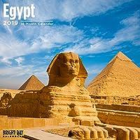 エジプト2019 16ヶ月壁掛けカレンダー12 x 12インチ