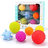 ROPALIA 6pcs Children Tactile Sensory Ball Toy Baby Early Development Toy-Multicolor-1 Size