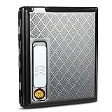 Amazon.co.jpPadgene 電熱線ライター付きタバコケース USB充電式 最大15本収納できるシガレットケース スライドで点火
