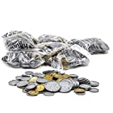 hand2mind Play Money For Kids, Realistic Fake Plastic Coins Set, Great For Pretend Play Money, Game Money Or Counting Money (