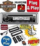 プラグ–and–Play Harley Davidson Touring 1998–2013Kenwood Marine Bluetooth CDラジオステレオインストールPreとプログラムされ19992000200120022003200420052006200720082009201020112012