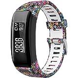 Younsea Compatible Garmin Vivosmart HR Watch Band, Accessories Adjustable Soft Silicone Replacement Wrist Watch Strap Designe