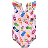 GRNSHTS Infant Baby Girls Swimsuit Striped Bowknot Halter Bikini Set Bathing Suit