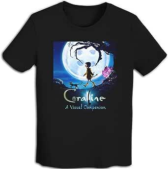 プリント 半袖シャツ メンズ T-Shirt Coralineコララインとボタンの魔女 Tシャツ White