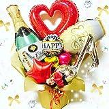 開店祝い 記念日に 大人ゴージャス シャンパンアレンジ バルーンギフト 送料無料
