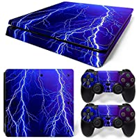 Sony PS4 Playstation 4 Slim Skin Design Foils Faceplate Set - Lightning Design