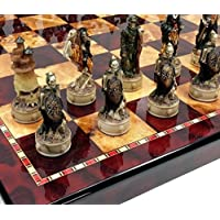 SKELETON SLAYER Fantasy GOTHIC SKULL Chess Set W/ 18