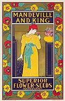 Mandeville and King–優れたフラワーSeedsヴィンテージポスター(アーティスト: Rhead ) USA C。1897 24 x 36 Giclee Print LANT-63023-24x36