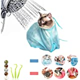 CEYZF Pet Grooming Bag Washing Bathing Cat Dogs Shower Pocket Tick Remover Tool Fleas Cleaning Adjustable Mesh Anti-Biting Sc