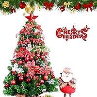 あらかじめ点灯 ヒンジ 人工的なクリスマス ツリー 灯, 環境に優しい グリーン クリスマスツリー 容易な組み立て 偽 Led クリスマス ツリー と の鉄製土台 -L 2.7m/8.9 ft