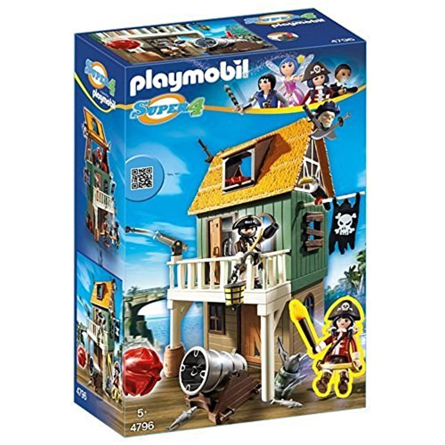 Playmobil 4796 Super 4 Gunpowder Island House [並行輸入品]