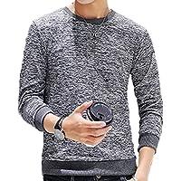 [ラルジュアルブル] トップス カットソー Tシャツ ロンT チェック 長袖 インナー アウター かっこいい シンプル カジュアル