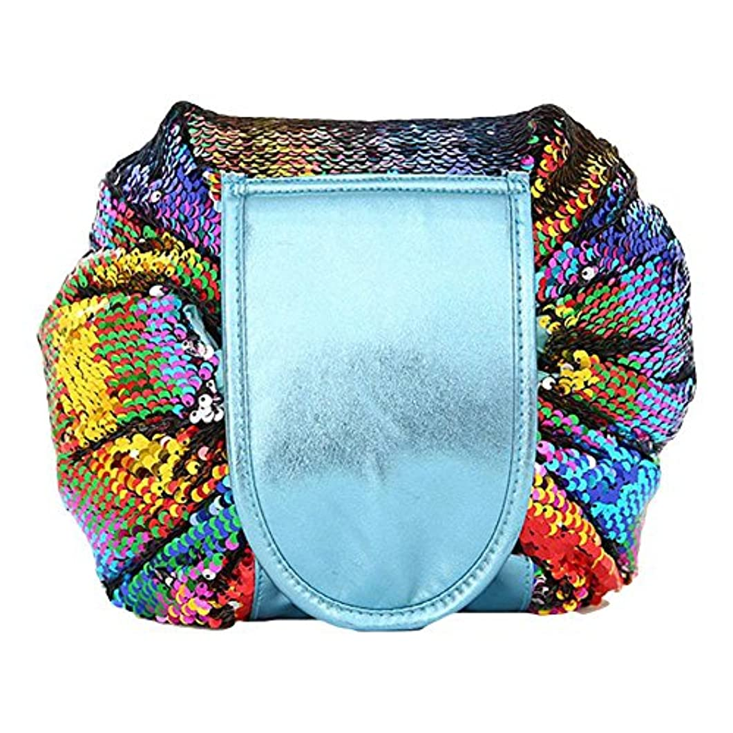 等々モチーフ増幅DJHbuy 旅行用 スパンコール 化粧ポーチ 大容量 巾着 便利 化粧品収納バッグ