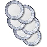Corelle 1137568 Style Collection Lunch Plates, 6-Piece, Portofino