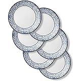 Corelle 1137568 Style Collection Lunch Plates, 6-Piece, Portofino