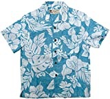(マルカワジーンズパワージーンズバリュー) Marukawa JEANS POWER JEANS VALUE アロハシャツ キッズ 半袖 シャツ ハイビスカス 5color 160 ライトブルー