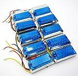 [AW-Net] 発光パターン3種類 24V 12V 兼用 角型 サイド マーカー LED ランプ 12灯 対応 トラック デコトラ ダンプ 輸送車 10 個 セット ブルー