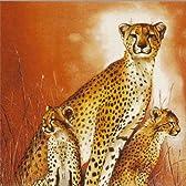 ペーパーナプキン、アフリカ チーターの親子