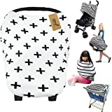 iZiv Ultrasoft 4-in-1 Multi-use Baby Stretchy Cover Car Seat Canopy/Nursing Cover/Shopping Cart Cover/Infinity Scarf Baby (Co