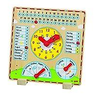 Goki Year Clock Learning Baby Toy [並行輸入品]