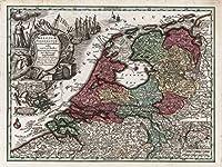 Lais Puzzle MatthäusSeutter Map - アトラスNovas Indicibus Instructus(1744) - ベルギーのfoederatum(オランダ) - モチーフシリーズ 2000 部