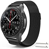 EEEKit Stainless Steel Replacement WatchBand for Samsung Gear S3 Frontier/Classic, Adjustable Loop Strap for Gear S3 R380 R381 R382 Smart Watch