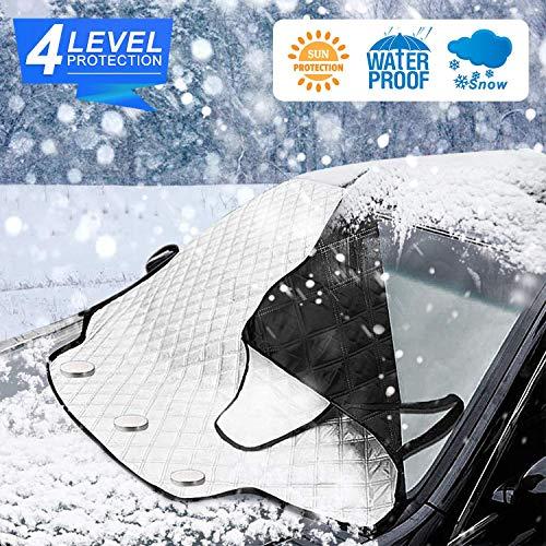 車フロントガラスカバー 雪対策 凍結防止 日除け 愛車を雪・霜・落ち葉・鳥のフン・ホコリから守る 簡単取付