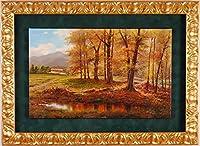 スペイン 風景画 絵画 油絵 アマド・トレセシャンディ 「小暮日」 額付き