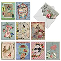 Tailorフィットall-occasionユーモア用紙カード 10 Assorted Blank Note Cards (M6636OCB)