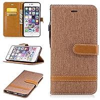 NEXCURIO iPhone6S Plus ケース / iPhone6 Plus ケース 手帳型 レザーケース 耐衝撃 カード収納 スタンド機能 マグネット式 アップルアイフォン 6S Plus / 6 Plusケース 携帯カバー おしゃれ (茶)
