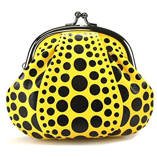 (Yayoi Kusama) 草間彌生 財布 がま口 コイン PUMPKIN パンプキン かぼちゃ 南瓜 水玉 ドット 黄色 イエロー 保存袋付き わが永遠の魂 草間彌生展