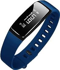 最新版 スマートウォッチ 心拍計 血圧計 スマートブレスレット 防水 歩数計 活動量計 LINE 電話 着信通知 睡眠検測 タッチ操作 iPhone Android 日本語対応