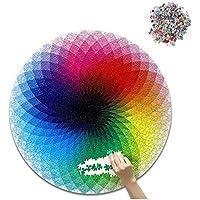 Chone 1000pcs子供用レインボーラウンドパズルジグソー、子供&大人教育ゲームおもちゃGood forカラー開発
