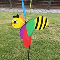 BCHZ 3D Large Animal Bee Windmill ,Yard/Garden/Decor