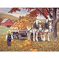 Bits and Pieces–1000ピースジグソーパズルfor Adults–Pumpkinパッチ–1000pc Fall動物ジグソーbyアーティストJohn Sloane