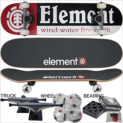 """ELEMENT ( エレメント ) COMPLETE """"7.75inch"""" ハイスペック仕様コンプリート カットバックウィール( スケート ボード スケボー コンプリート セット)"""