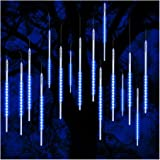Vikdio Meteor Shower Rain Lights, 50cm 10 Spiral Tubes 540 LEDs Waterproof Drop/Icicle Snow Falling Raindrop Cascading String