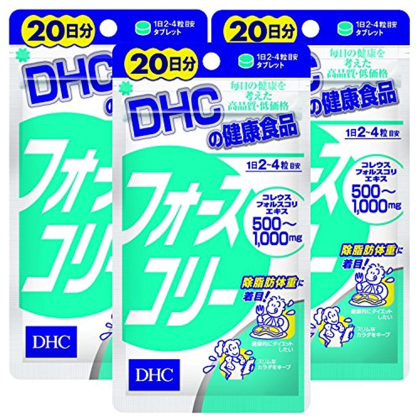 すすり泣きよろめく材料【セット品】DHC フォースコリー 20日 80粒 3袋セット