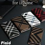 iPhone8 iPhone7 ケース 手帳型 おしゃれ チェック柄 カード収納 アイフォン8 アイフォン7ケース iPhone8/7,レッド